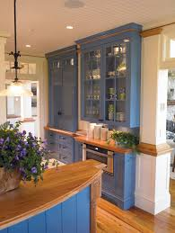 kitchen cabinets home office transitional: shallow kitchen cabinets kitchen traditional with architectural millwork beadboard blue