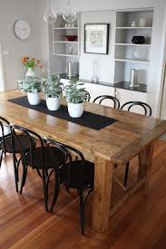 modern wood dining room sets:  solid wood modern dining table
