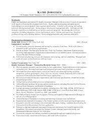 sample cover letter for resume quality assurance cipanewsletter cover letter quality assurance manager resume sample call center