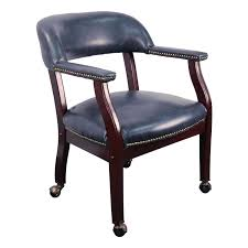 casual dining chairs with casters: conference room chairs b z navy gg navy blue vinyl chair on casters