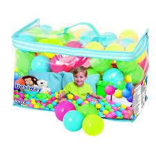 <b>Мячи для игр пластмассовые</b> 52027 Bestway 6,5 см 100 шт купить ...