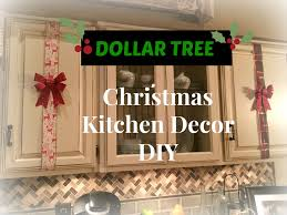 kitchen units interior tree dollar tree christmas kitchen cabinets decor diy plaid week day  youtu