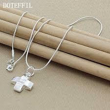 High Quality 925 <b>Silver</b> Color Promotion Items <b>Black</b> Rope Chain ...