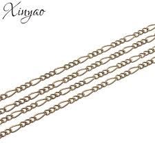XINYAO 5m/lot Metal Iron Necklace Chains Bulk Bracelet ... - Qoo10