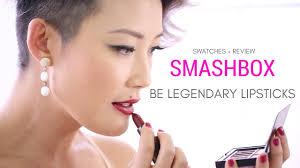 <b>SMASHBOX Be Legendary</b> Lipstick Swatches