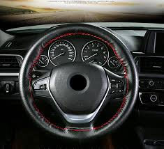 CAR DIY Steering Wheel Cover Genuine Leather <b>braid on the</b> ...