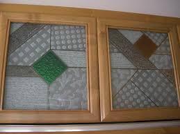 kitchen cabinets glass inserts