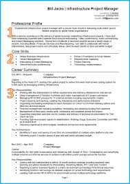 example of a good cv project manager cv middot cv template
