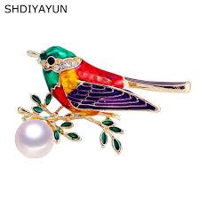 <b>SHDIYAYUN</b> New High Guality <b>Pearl</b> Brooch Dragonfly Brooch For ...