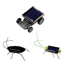 Wholesale- <b>1pc</b> Funny Grasshopper Model Solar Toys <b>Children Kids</b> ...