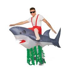 Adult <b>Inflatable</b> Ride-A-<b>Shark Halloween Costume</b> - One Size : Target