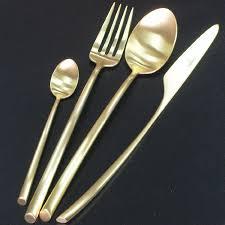 <b>Набор столовых</b> приборов 24 предмета «<b>Mezzo</b> Mat Gold ...