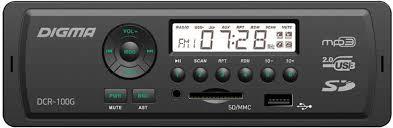 <b>Автомагнитола Digma DCR-110G</b> 12V Дигма купить недорого в ...
