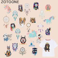<b>ZOTOONE Cute</b> Animal Patches Unicorn Dog Dreamcatcher ...