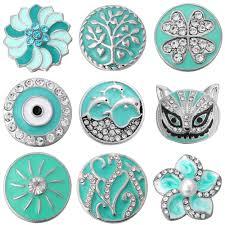 <b>5pcs</b>/lot <b>Snap Button Jewelry</b> Ginger Charms Flower Heart Cross ...