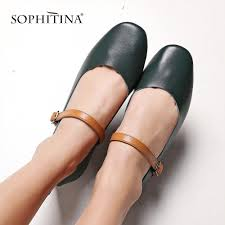 <b>SOPHITINA</b> 2019 Spring <b>New Genuine</b> Leather Mary Jane Shoes ...