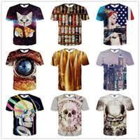 Рабата Top <b>3d Printed</b> Skeleton T Shirts
