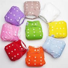 <b>Multi</b>-colored <b>1 PCS Adjustable</b> Reusable Baby Infant Cloth Diapers ...