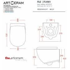 Унитаз подвесной ArtCeram File 2.0 FLV004 ... - Дом Сантехники