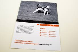 dog walking service flyer template flyer design templates dog walking service flyer template