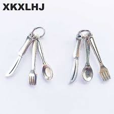 <b>XKXLHJ 2019 New</b> Cutlery Western Food Utensils Cute Brooch ...