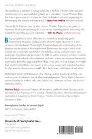 human rights education theory research praxis pennsylvania human rights education theory research praxis pennsylvania studies in human rights monisha bajaj nancy flowers 9780812249026 amazon com books