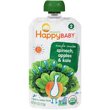 Happy Baby <b>Organics Stage 2 Simple</b> Combos Spinach, Apples ...