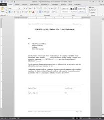 payroll deduction stock purchase letter template com107 2 payroll deduction stock purchase letter template