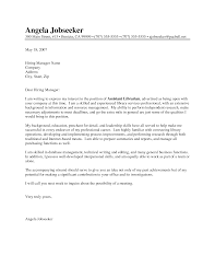 cover letter for librarians