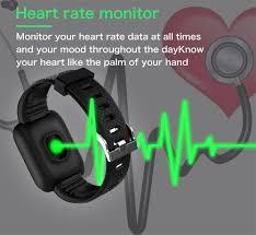 Nennbo <b>116 PLUS</b> Smart <b>Bracelet</b> Heart Rate Blood Pressure ...