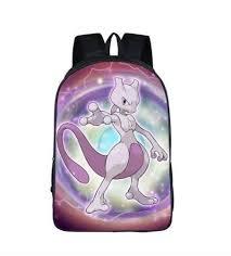 <b>Pokemon</b> Legendary <b>Mewtwo</b> Cool Style School <b>Bag Backpack</b> in ...