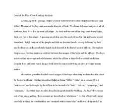 close reading essay examples  wwwgxartorg lord of the flies close reading analysis a level english document image preview