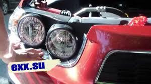 Chevrolet Aveo T300 <b>накладки на передние фары</b> - YouTube