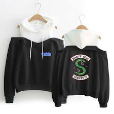 <b>2019</b> New <b>Riverdale South</b> Side Serpents Dew Shoulder <b>Hoodie</b> ...