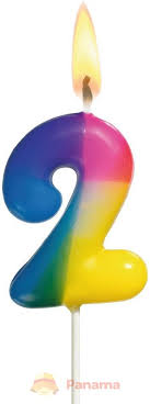 susy card свеча цифра для торта радужная 8 лет