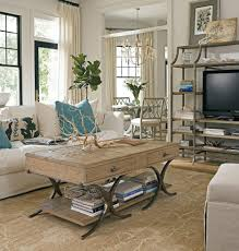 beachy living rooms traditional and chic coastal living room idea with cozy white sofa and beach style living room furniture