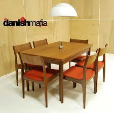 modern dining table teak classics:  mid century danish modern teak dining complete set