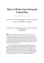 personal values essay writing your personal vision plan