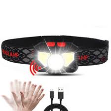Xanes® <b>w826a</b> 650lm xpg+2xcob led induction sensor headlamp ...