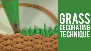 Grass Decorating Technique from <b>Wilton</b> - YouTube