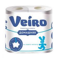 Туалетная <b>бумага</b> 2-х слойная <b>Veiro</b> Домашняя (4шт/уп*15м ...