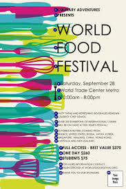 best ideas about ticket printing seattle world food festival poster ticket printing