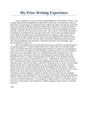 cause and effect essay stress   the pressures placed on students   pages my prior writing experience