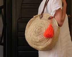 <b>Round straw bag</b> | Etsy