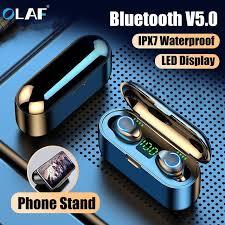 <b>Olaf</b> F9 Wireless Headphones <b>Bluetooth 5.0</b> Earphones TWS ...