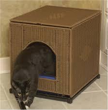 image of new cat litter box furniture arena kitty litter box