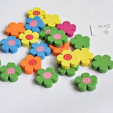Handmade 10pcs Flower <b>shape Mixed</b> Color hobbyhorse Wooden ...