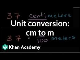 Converting centimeters to meters (cm to m) | Measurement (video ...