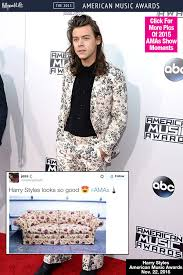 Harry Styles AMAs Memes: Floral Suit Gets Compared To A Grandma's ... via Relatably.com