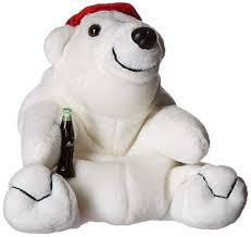 Coke Polar Bear in Red Baseball Cap Bean Bag ... - Amazon.com